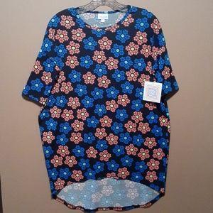 Lularoe floral Irma tunic top sz XXS
